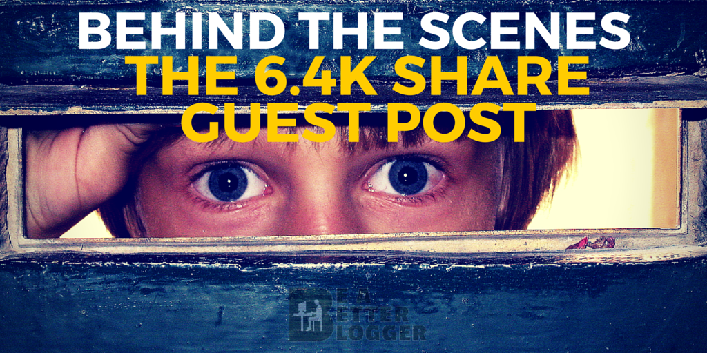 Behind the Scenes of a Viral Guest Post: The 6.4k Share One Hit Wonder