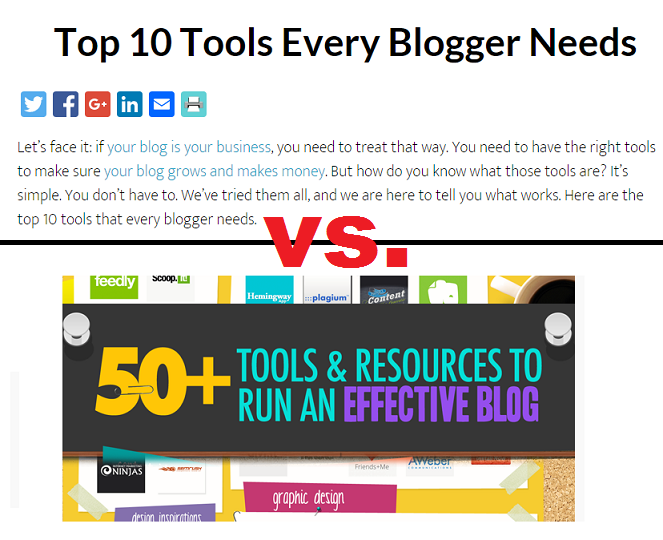 Top 10 Tools Every Blogger Needs vs. 50+ Awesome Tools To Run A Blog