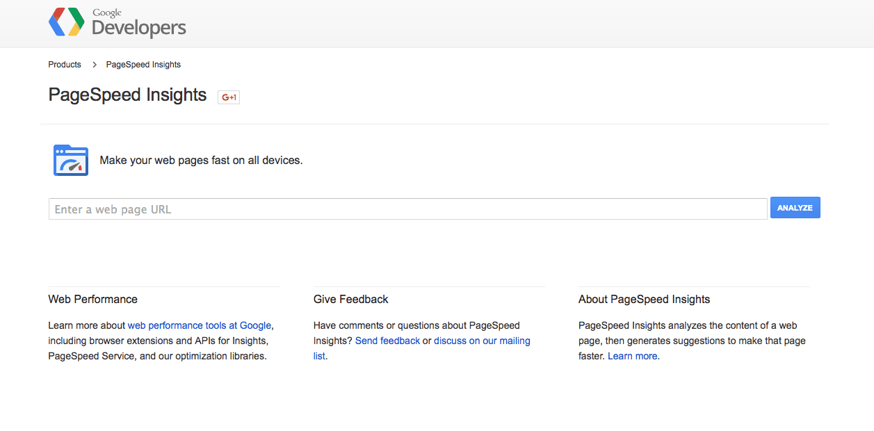 PageSpeed Insights tool by Google