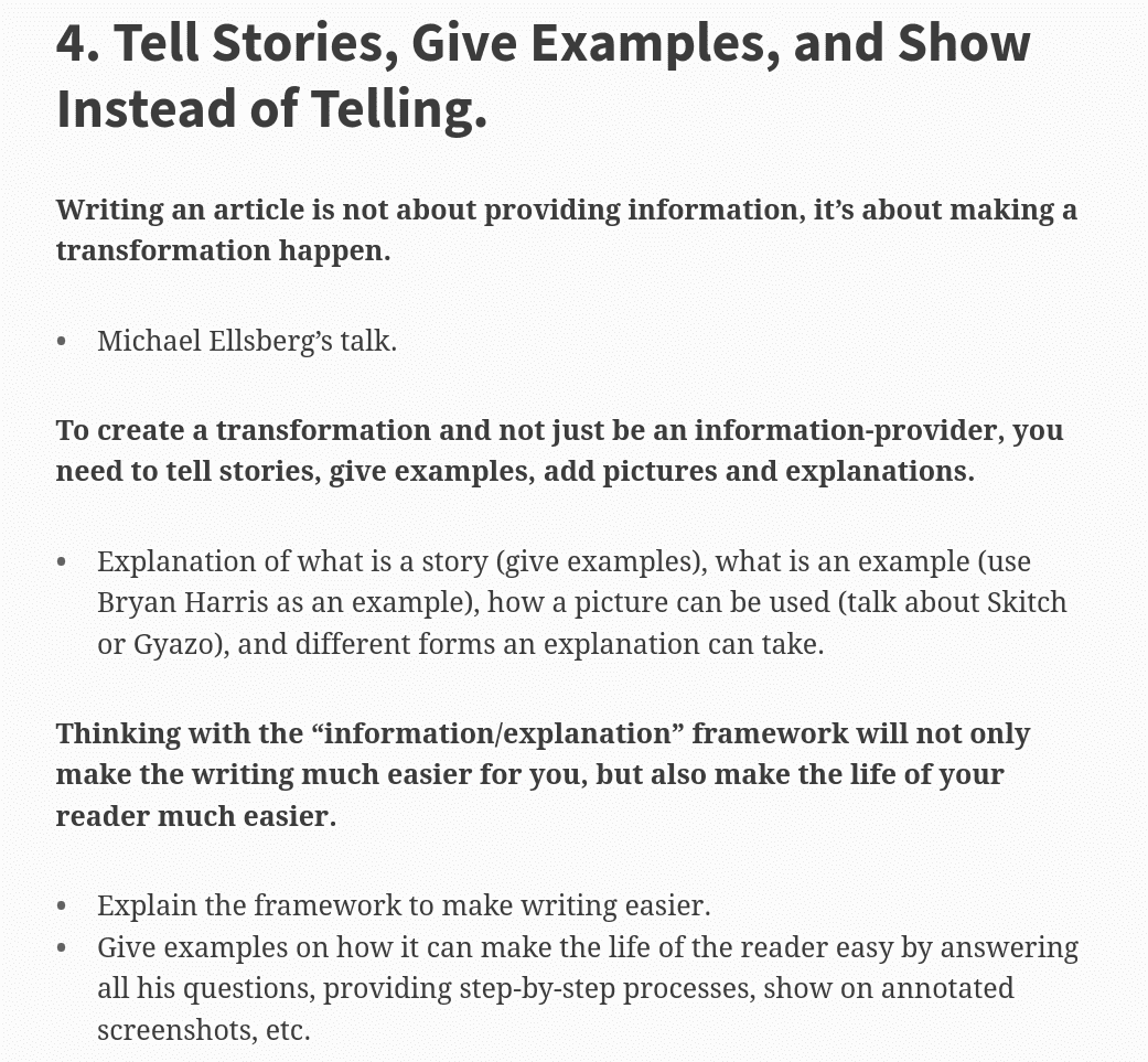 Information-Explanation-Framework-To-Make-Writing-Easy