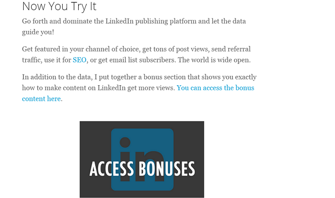 linkedin post bonus