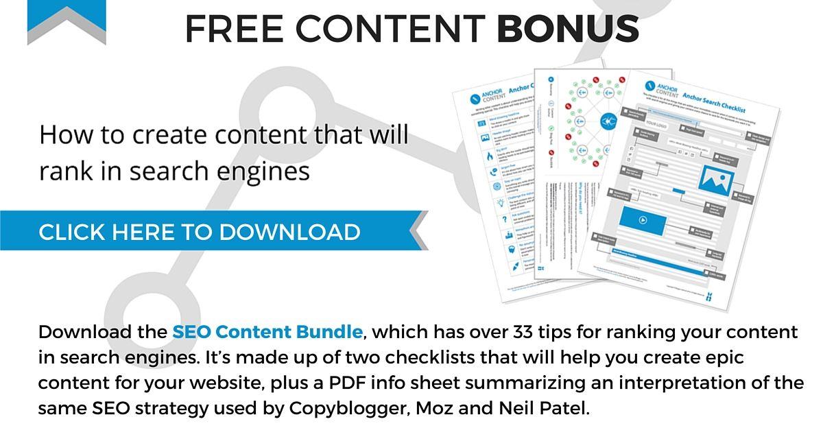 SEO Content Bundle Bonus