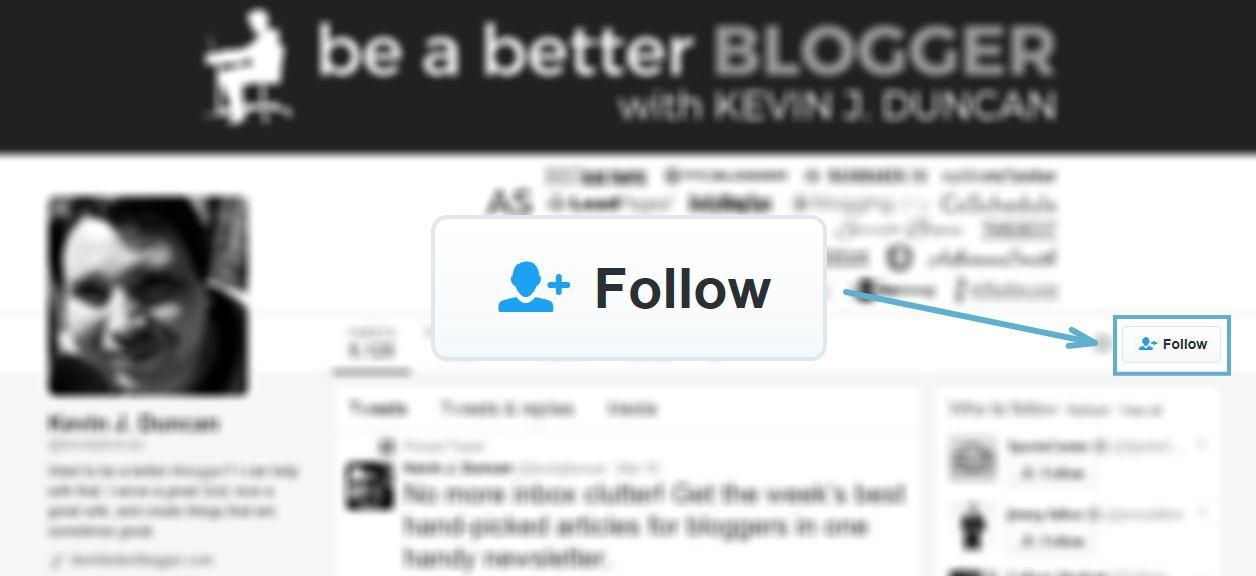 Twitter follow example